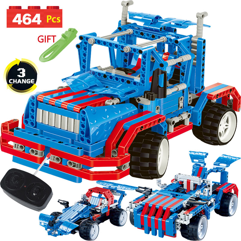 Technic Transformtion RC Car Series LegoINGLYS Vehicle Truck Offroad Radio Remote Control Machine Blocks DIY Toys For Kids 2 in 1 rc car compatible legoinglys radio technical vehicle green suv control blocks assembled blocks children toys gift