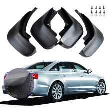 цена на CITALL New 4Pcs Mud Flaps Splash Guards Mudguard For Audi A6l A6 C6 Sedan 2006 2007 2008 2009 2010 2011 2012 2013 2014 Mudflaps