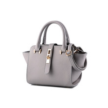Classy Plain Hand Bag Lady PU Leather Small font b Handbag b font Succinct Belt Twist