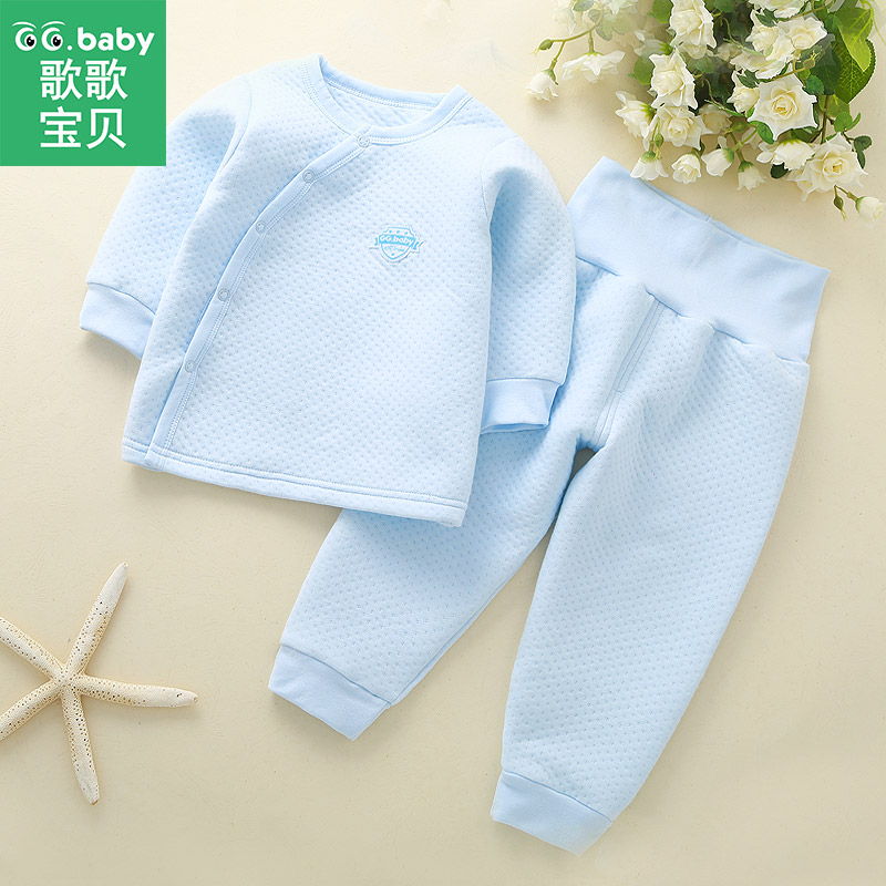 2pcs/Set Cotton Baby Sets Winter Baby Clothing Set Bebes Outfits Warm High Waist Pants Infant Newborn Suits Girl Boy Clothes Set baby boy girl clothing sets 2pcs suits tops pants infant newborn baby boy s clothes set cotton letter lazy days outfits