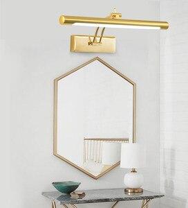 Image 5 - Phòng tắm 7W/46CM 12W/55CM Gương LED Ánh Sáng 90 260V Phong Cách Thời Trang trắng ấm/Trắng Mát ĐÈN LED Dán Tường
