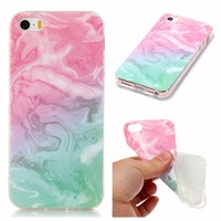 For IPhone 5 Case Silicone Soft Tpu Granite Stone Marble Texture Scrub Frosted Painted Covers For