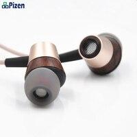 2018 pizen BK50 Kulak ahşap Kulaklık kulaklık Sürücüsü BA HIFI Kulaklık Earbuds için Mic Ses yükseltme sürümü mmcx port xiaomi