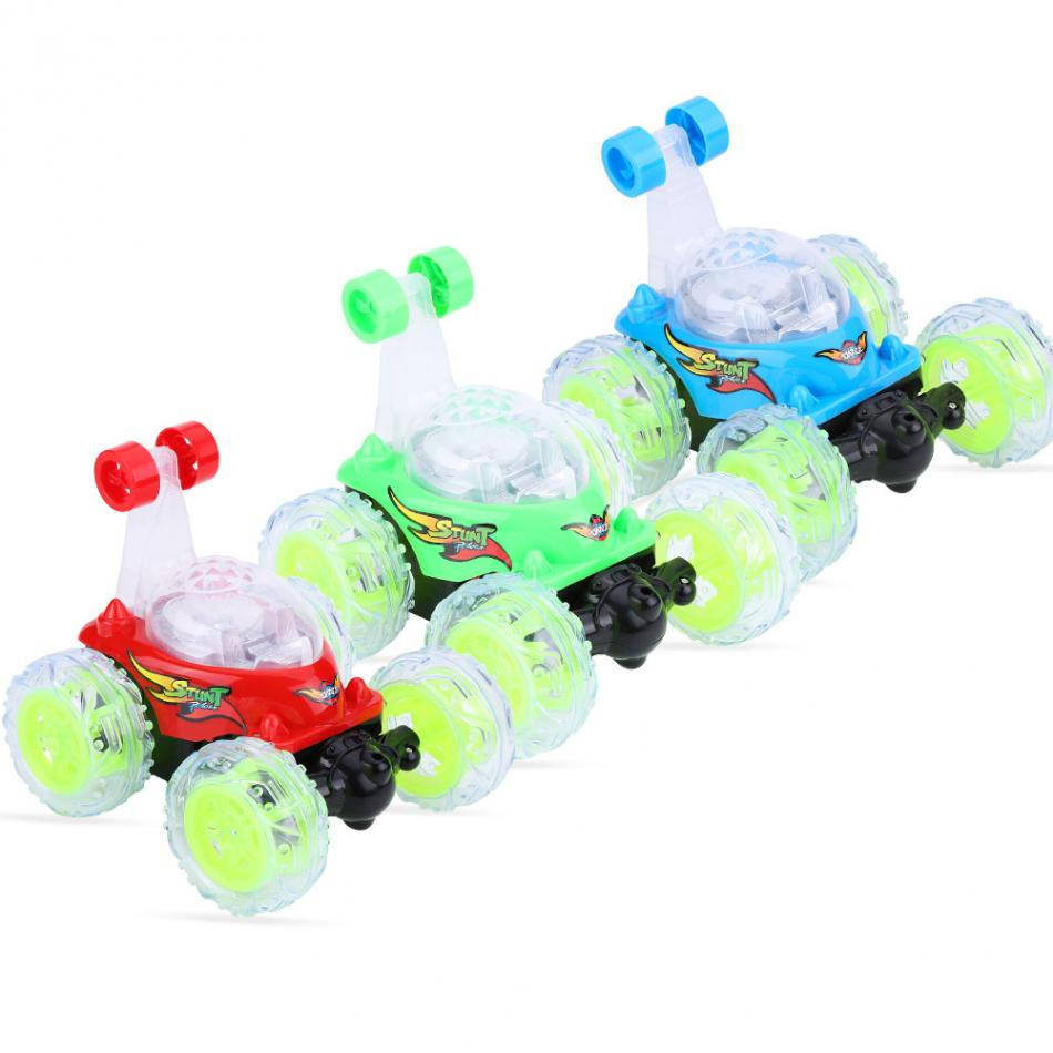 3Colors RC Stunt Car 360 Degree Rolling Flash LED Light Remote Control Toy with USB Cable High Quality RC Car