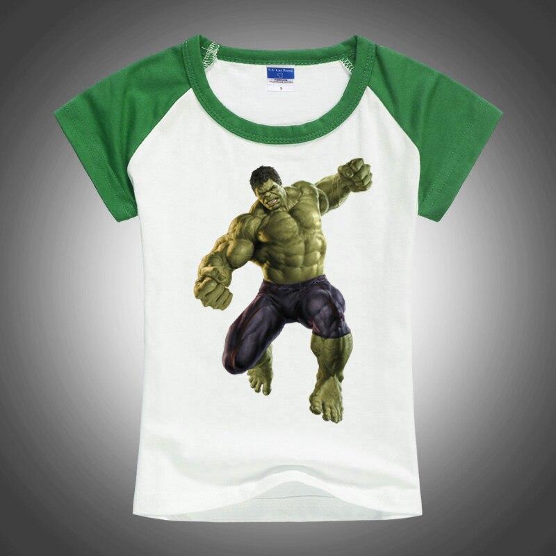 2016 summer kids clothing for boys t shirt hulk avengers