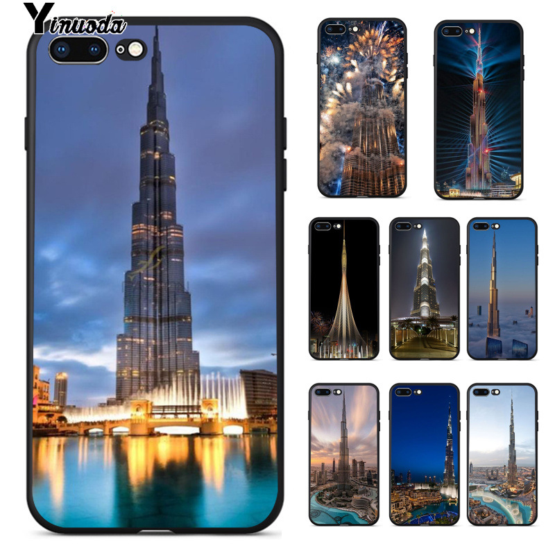 Yinuoda Dubai Burj Khalifa Tower Top Detailed Popular Cell Phone Case Cover For Iphone 8 7 6 6s Plus 5 5s Se Xr X Xs Max Shell