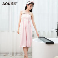 Sexy Wrapped Chest Bathrobe Woman Summer High Quality Soft Women S Solid Robes Dress Bath Robe