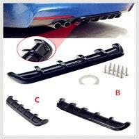 ABS Car Rear Shark Fin Style Curved Bumper Lip Diffuser for Audi A4 Avant A4 Cabriolet A6L A8L TT TTS Any Cars