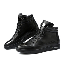 2016 High Quality Martin Boots men Fashion superstar Style shoes 100% Genuine Leather Lace Up Ankle boots male Brand Flat Shoes