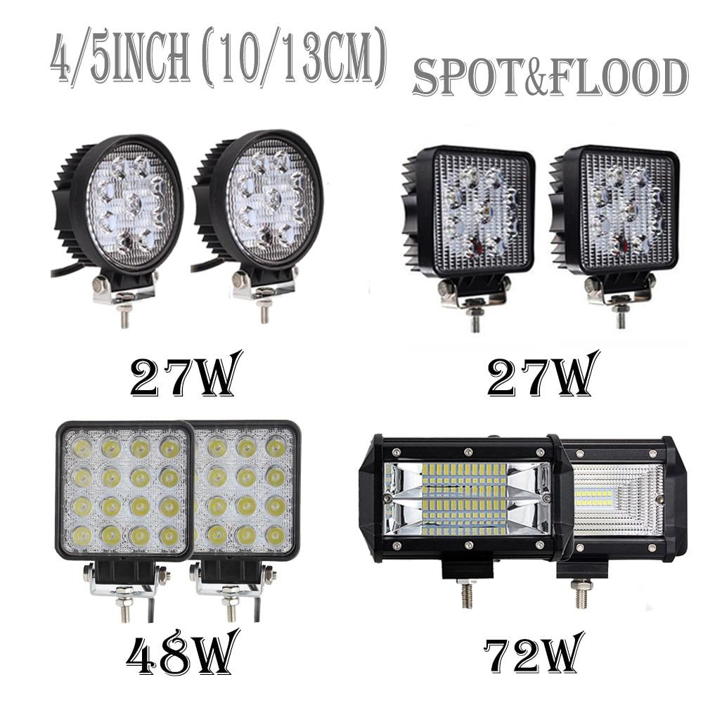 Update 10/13 cm 27 watt 48 watt 72 WOffroad Auto 4WD Lkw Traktor Boot Anhänger 4x4 SUV ATV 12 v 24 v Spot Flut LED Licht Bar LED Arbeit Licht