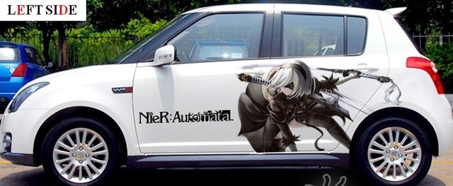 Left side car stickers and decals tailor made nier japanese cartoon anime whole body sticker