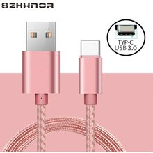USB Type C 3.1 Nylon Fast Charging Data USB Charger Charge for Xiaomi mi A2 A1 MI 8 Elephone U / U Pro Z1 / BQ Aquaris X / X Pro(China)