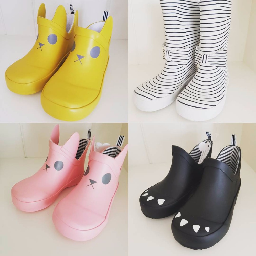2018 spring summer bobo choses kids boots kids rain boots boys shoes girls shoes kid cartoon boots bobo choses пододеяльник
