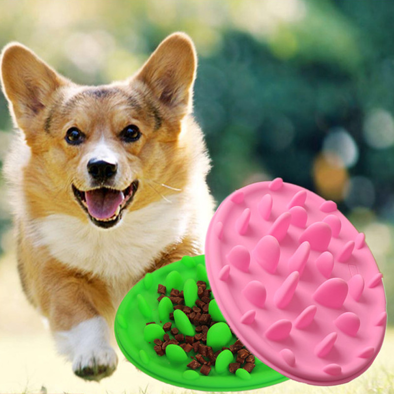 1pc Slow Food Feeder Bowl Silicone Dish Dog Cat Slow Eating Feeder Anti Choke Pets Bowl Anti-gulping Feeder Prevent Obesity