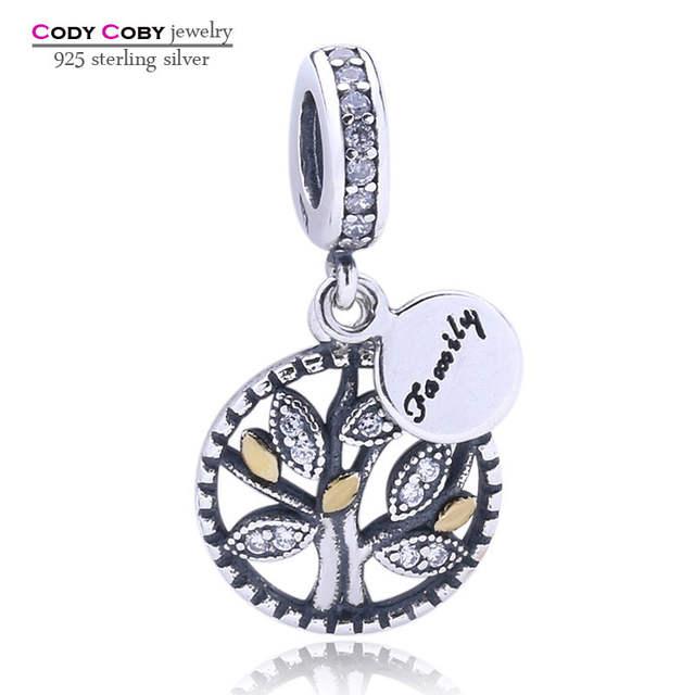 2b44114946 placeholder 925 Família Prata Árvore da Vida Encantos de Cristal Beads Fit  Pandora Pulseira Pingente Para As
