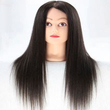 Mannequin Training Head Black Maniqui Hairdressing Doll Heads Hairdresser Hair Makeup