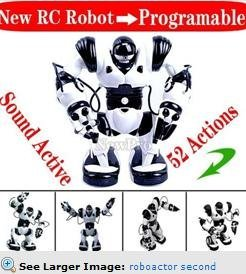 Free shipping! roboactor  second version remote control rc robot toy humanoid  infrared  robot+sound active+52 actions