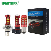 LEADTOPS DRL Fog Lights LED Car Light Assembly H119005 9006 H10 H1 H4 H7 1156 H11