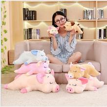 WYZHY New Year gift mascot down cotton quilt pig doll plush toy to send friends children birthday gift  60CM стоимость