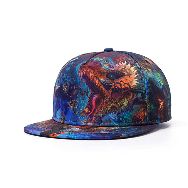 d90c312be4f Swag Dragon Snapback cap 3D print hip hop cap baseball caps fashion rapper  dancer hat