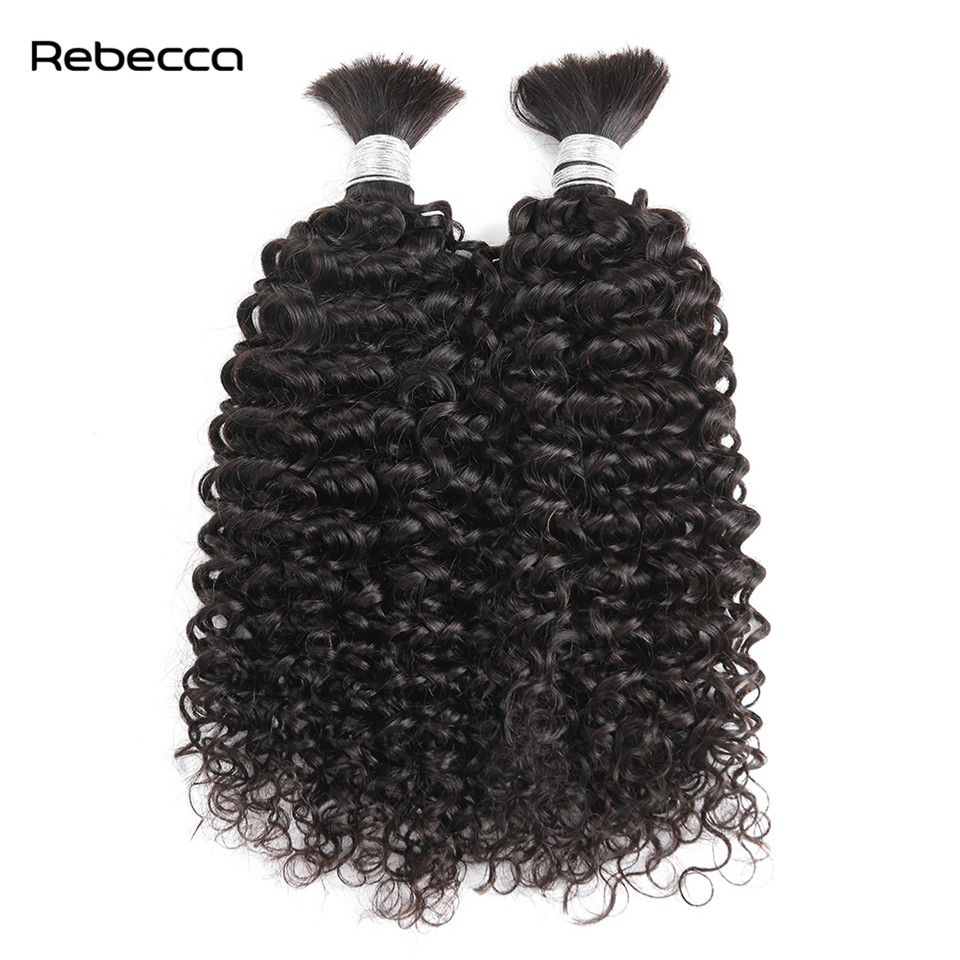 Rebecca Malaysian Remy Hair Afro Kinky Curly 100 Human Hair Bulk Can Be Dyed And Bleached