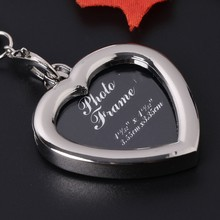 2018 Insert Photo Picture Frame Keyring Metal Alloy Keychain Love Craft Gift JUL3_17(China)