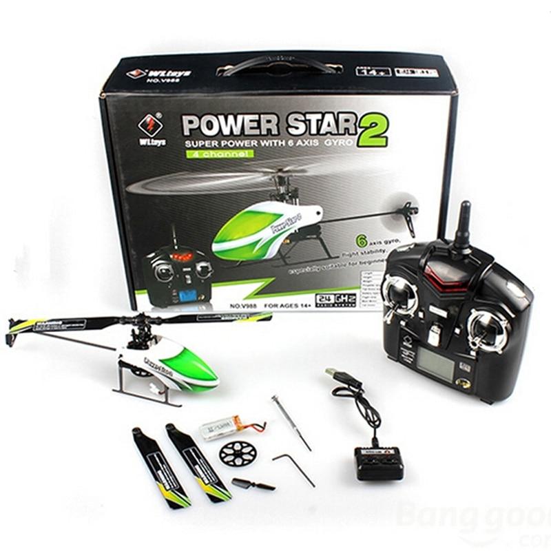 Оригинальный Новинка; Лидер продаж WLtoys V988 Мощность Star 2 4CH 6-оси гироскопа Flybarless вертолет RTF RC модели для детей подарок на день рождения