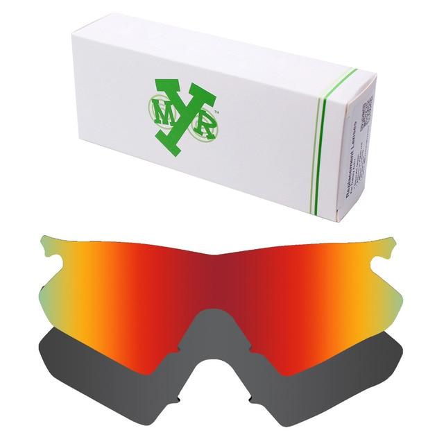 HKUCO Mens Replacement Lenses For Oakley M Frame Hybrid Red/Blue/Black/Emerald Green/Bronze Sunglasses hDWBYwzj