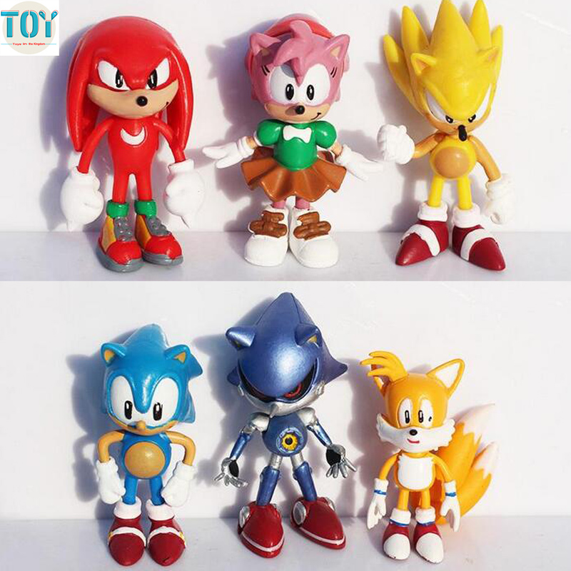 Ohmetoy Super Sonic The Hedgehog Jp Anime Action Figure Toy Pvc Knuckles Mephiles Amy Tails 6cm Kids Toys Gift Brinquedos Super Sonic Figure Toyanime Action Figure Aliexpress