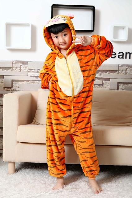 7258ac17ec5b5 Animaux mignons Enfants Pyjamas Tigrou Costume Pyjama pour Onesies ...