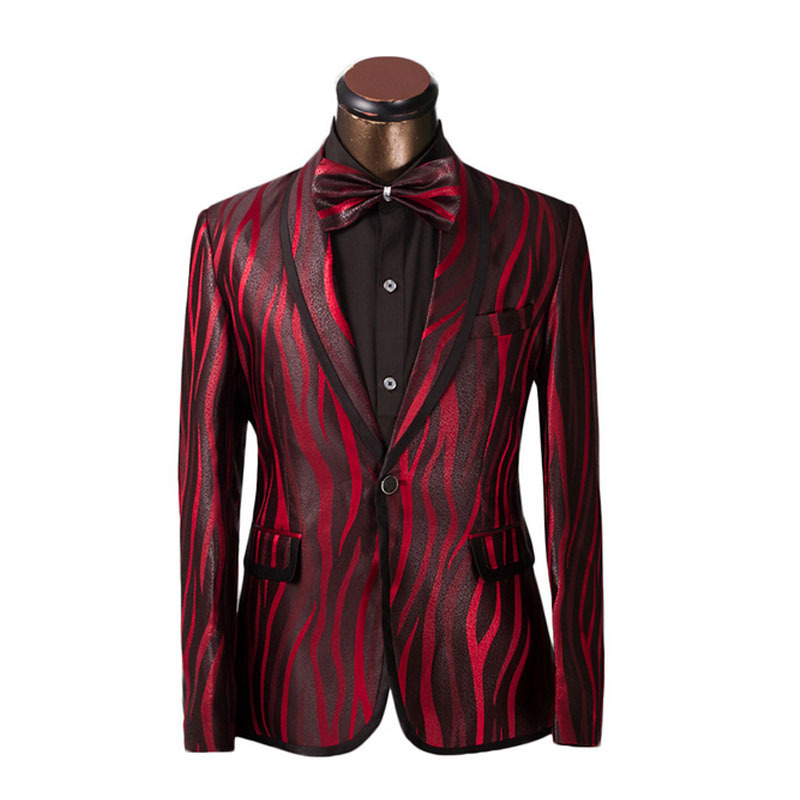 Aliexpress.com : Buy Luxury Men Suit Unique Red Zebra Pattern One ...