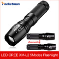 3800 Lumens Zoomable Cree Xm-l L2 LED Flashlight Torch Lamp with High quality zaklamp For 26650 18650 3x AAA Free Shipping zk50