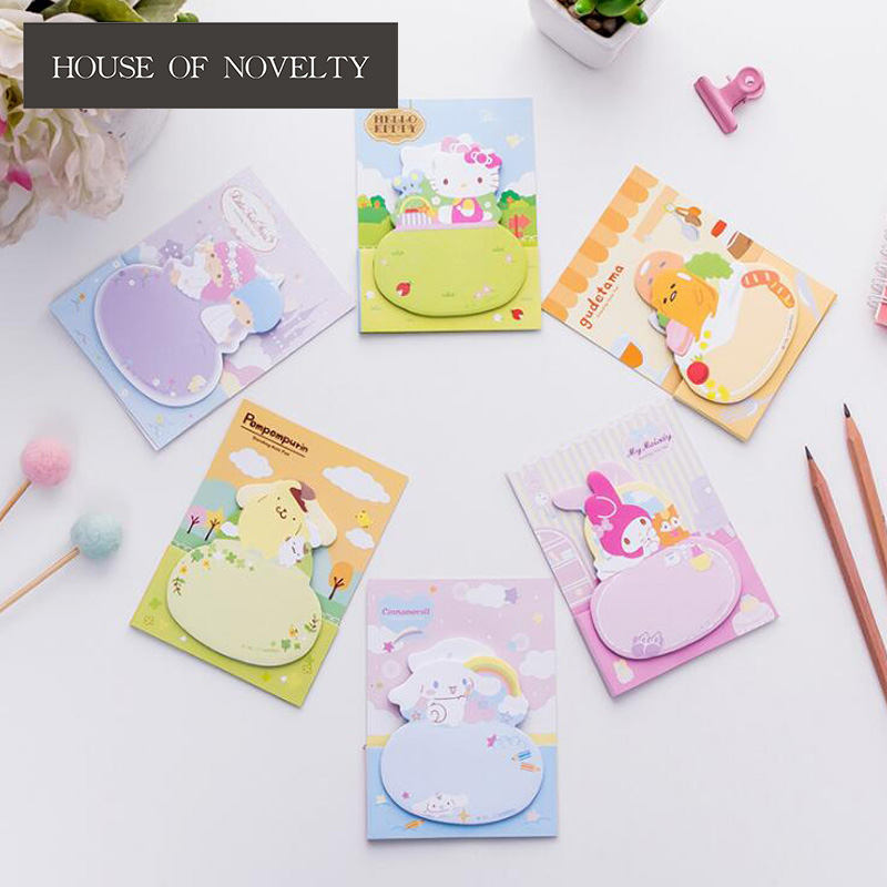 Twin Star Lazy Egg Kitty Memo Pad Sticky Notes Escolar Papelaria School Supply Bookmark Label the color of the rainbow cloud memo pad sticky notes memo notebook stationery papelaria escolar school supplies