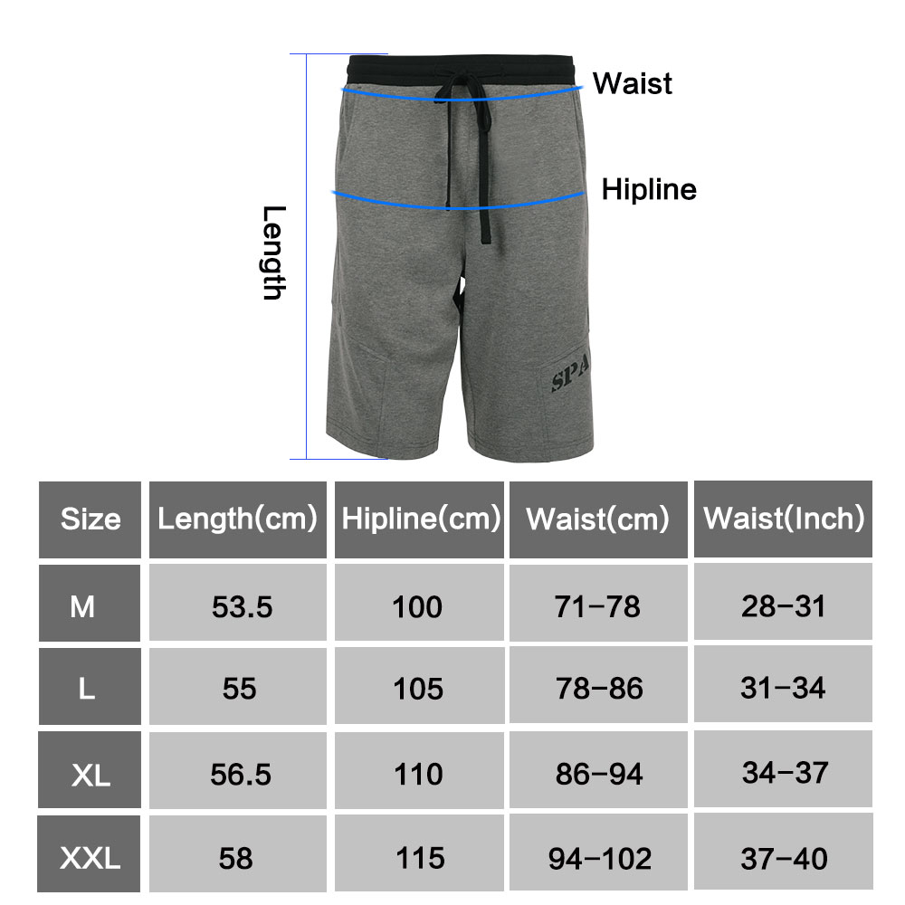 Tactical Outdoor Shorts Fitness Training Shorts Knee Length Men's Polyester Loose Shorts