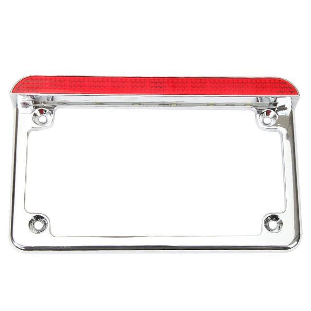 Ironwalls Aluminum LED License Plate Frame With Brake Light For ...
