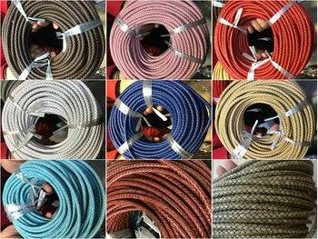3/4/5/6mm Cordón de cuero trenzado Bolo tira redonda de cuero genuino para pulsera de collar
