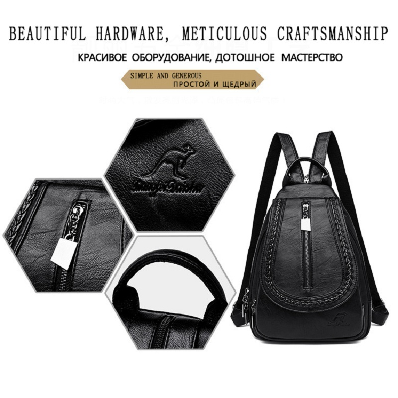 Women Leather Backpacks Classic Female Chest Bag Sac a Dos Travel Ladies Bagpack Mochilas School Bags For Trrnage Girls Preppy in Backpacks from Luggage Bags
