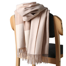 2020 New Real Cashmere Scarf Stole Plaid Wool Scarves For Women Winter Warm Female Poncho Cape Fashion Lady 100 Pashmina Shawls