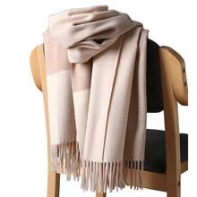 2020 Nieuwe Real Kasjmier Sjaal Stole Plaid Wol Sjaals Voor Vrouwen Winter Warm Vrouwelijke Poncho Cape Fashion Lady 100 Pashmina sjaals