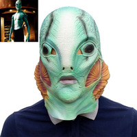 Hellboy Anung Un Rama Mask Cosplay B.P.R.D. Helmet Fish Face Latex Masks Funny Halloween Party Props