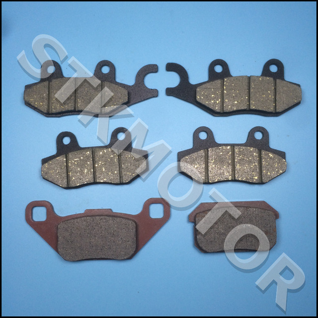 6pcs KAZUMA 500CC ATV Brake pads For KAZUMA Jaguar 500CC ATV Quad Front Left Front Right and Rear Brake Pads