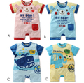 Novo bebê verão animal dos desenhos animados cotton curto-de mangas compridas do bebê girls & boys clothing macacão crianças macacão curto corpo para crianças