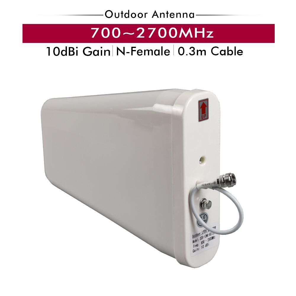 700 ~ 2700 MHz 10dBi Gain À L'extérieur LPDA Antenne Antenne Extérieure pour 2G 3G 4G Mobile Téléphone signal Booster Répéteur Booster