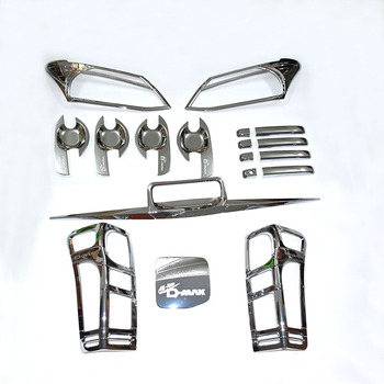 FREE SHIPING for  D-MAX  accessory Full set DMAX accessories complete set for 2012-2015 D-MAX SILVER cover
