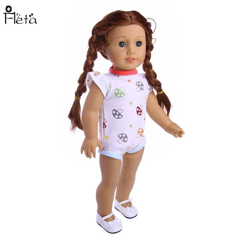 Fleta Nuevo pequeño patrón de setas Mono adaptable a 43cm Baby Born - Muñecas y accesorios - foto 5