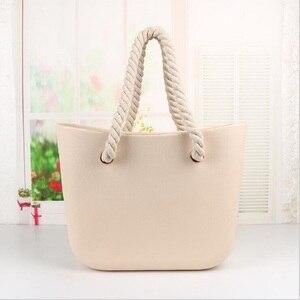 Image 4 - Mini bolsa de mão e ombro feminina de compras em silicone clássica com acabamento impermeável para uso noturno