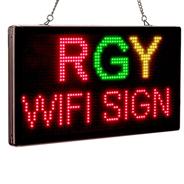 P4.75 Indoor Wifi LED Sign RGY 3 Color Programmable Two Lines Shop LED Display Message Board Perfect Solution For Advertising