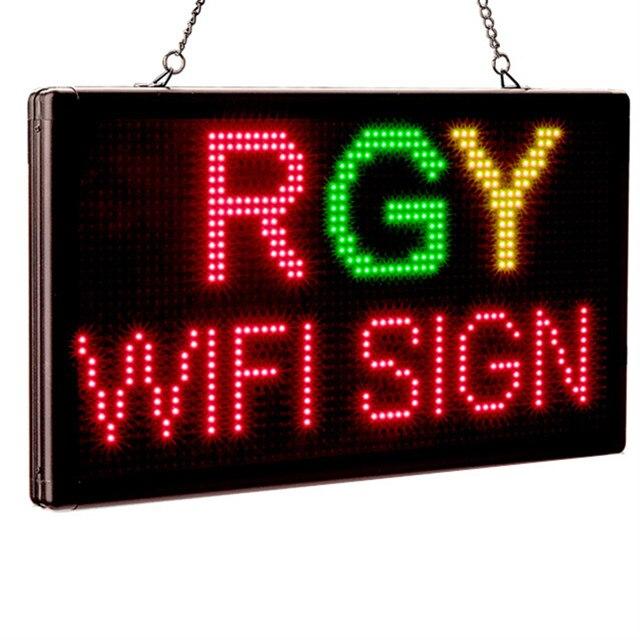 P4.75 Interior Wi-fi LEVOU RGY 3 Cores programável Duas linhas de sinal da Loja LEVOU placa da mensagem de exibição solução Perfeita para a publicidade