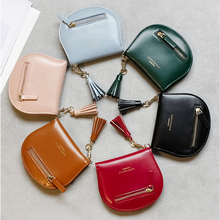 New Wemen Short Wallet Korean Style Simple Student Thin Hasp Zippered Wallet Sweet Coin Purse Solid Shell PU Clutch Purse