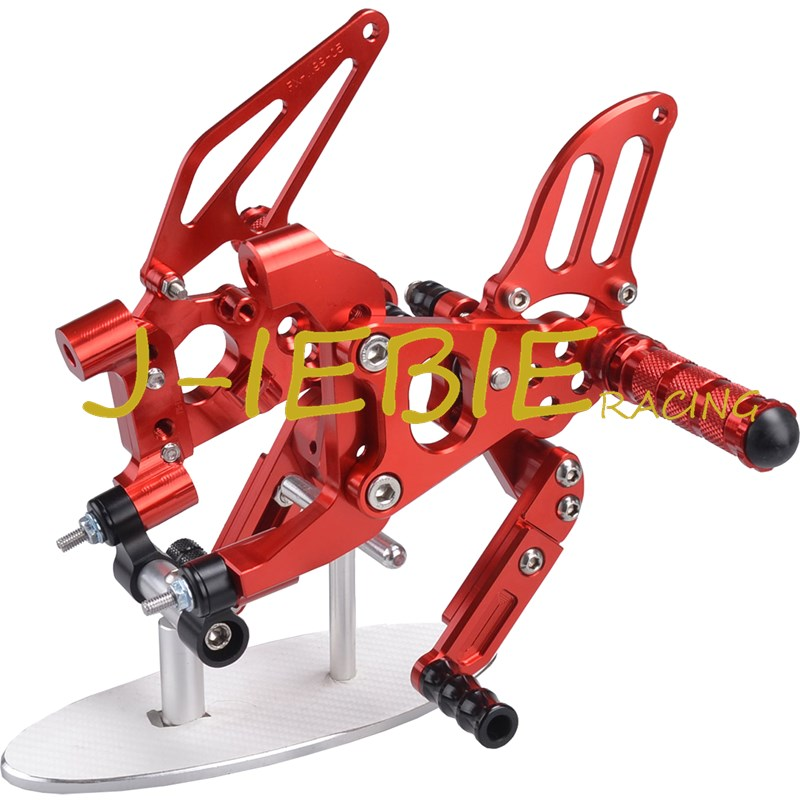CNC Racing Rearset Adjustable Rear Sets Foot pegs Fit For Ducati 899 959 1199 1299 Panigale 2012 2013 2014 2015 2016 RED
